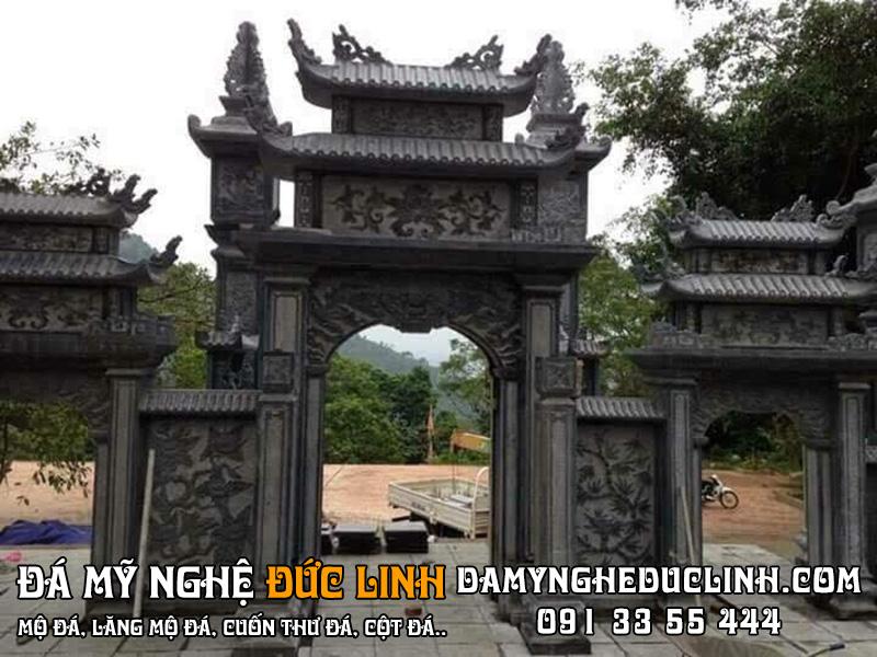 cổng tam quan đá đẹp