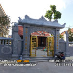 Thi công cổng đá đẹp tại Nam Định